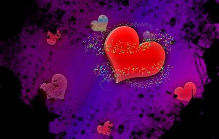 Grunge vintage hearts background  Stock Photo - 12197074
