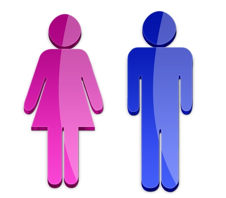 Men and Women symbol Stock Photo - 13297968