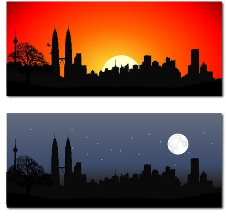 Cityscape of Kuala Lumpur Stock Vector - 13497388