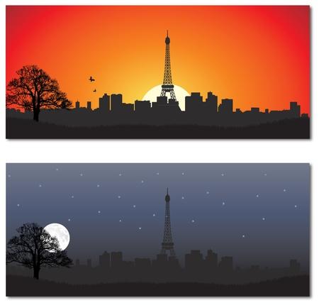 paris skyline: Cityscape of Paris