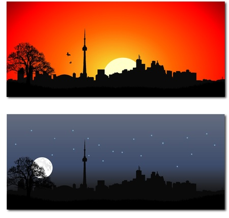 Cityscape of Toronto Vector