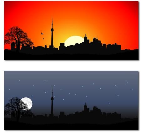 toronto: Cityscape of Toronto Illustration