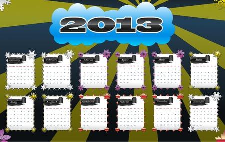 2013 vector calendar Vector