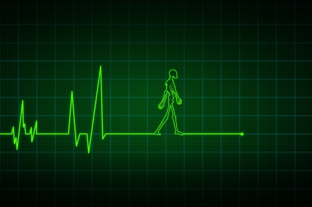 electrocardiogram: End of the line Stock Photo