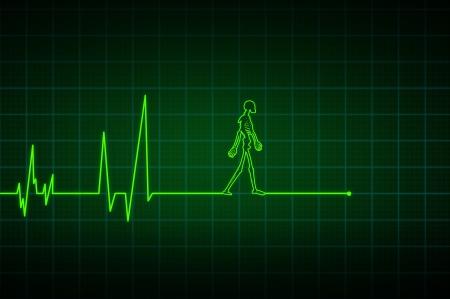 electrocardiograma: Fin de la línea Foto de archivo