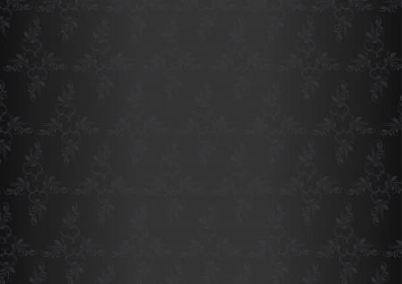 Luxury card flower pattern dark  Vector