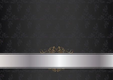 Luxury card dark with silver and gold insertion  Vector