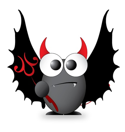 Cartoon Character - Devil Vector