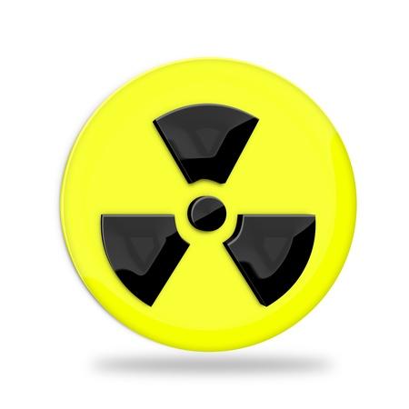 radioactivity danger logo: Radiation sign over white background  Stock Photo