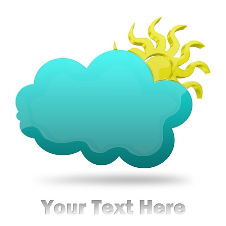 Cloud and Sun Illustration  illustration