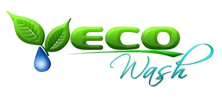 logo ecology: Eco wash Symbol