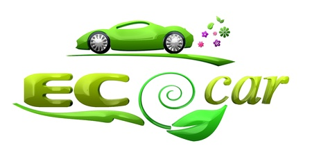 bio fuel: Eco car symbol