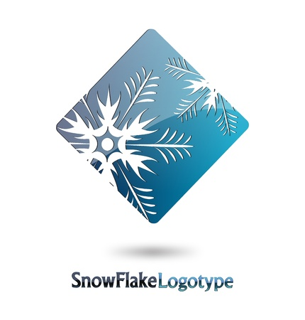 logotipo abstracto: Logo Resumen Snow Flake sobre fondo blanco Vectores