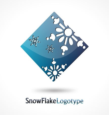 Abstract Logo Snow Flake on white background  Vector