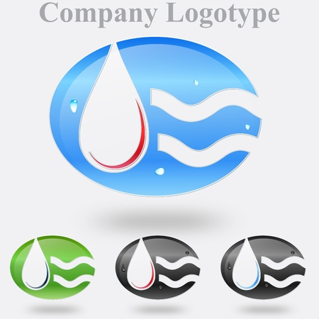 Abstract Droplet Company Logo  Stock Vector - 14973532