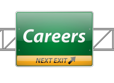 Careers Freeway Exit Sign  Vector