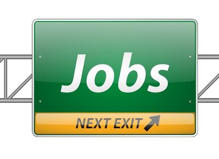 Jobs Freeway Exit Sign Stock Vector - 15140829