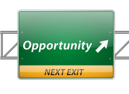 Opportunity Freeway Exit Sign  Vector