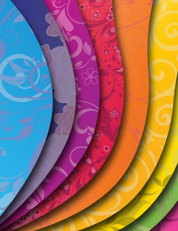 color spectrum: rainbow background with wave Illustration