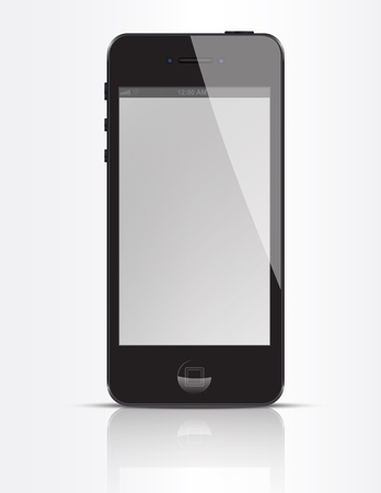 Abstract design mobile phone.  Vector
