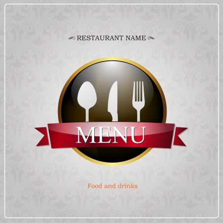Restaurant menu design  Illustration