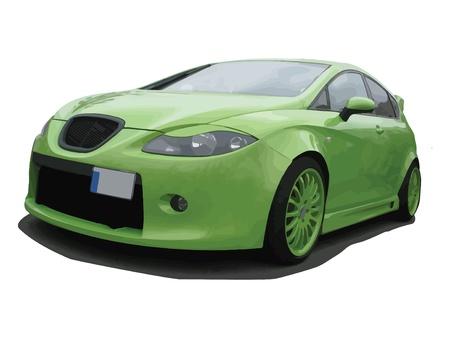 gran: Tuned European green car