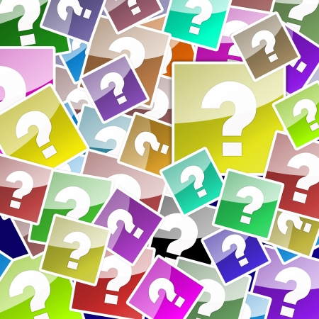 Question Mark Background Colored Stock Photo - 16015608