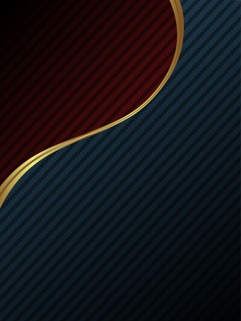 dark fiber: Luxury carbon fiber background Illustration