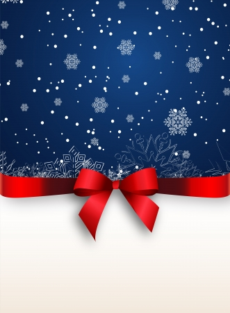 christmas drink: Holiday banner with red ribbons  Vector background
