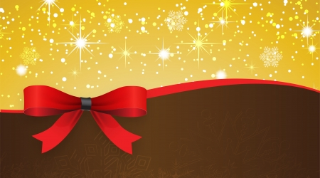 Holiday banner with red ribbons  Vector background   Vector