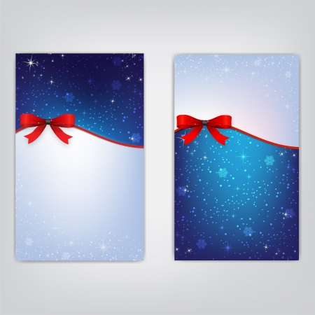 Greeting cards with red bows and copy space  Vector illustration  Stock Vector - 16137145