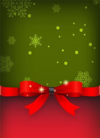 Holiday banner with red ribbons   Vector