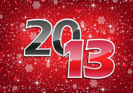 2013 Happy New Year greeting card Stock Vector - 16137155