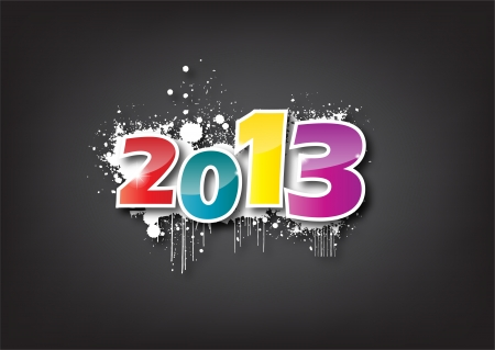 Creative Calligraphy 2013, Happy new year, Year of snake design Vector