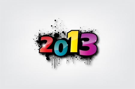 Creative Calligraphy 2013, Happy new year, Year of snake design