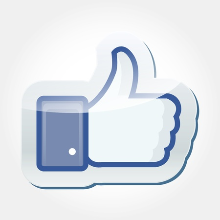 Facebook Like button Stock Photo - 16225159