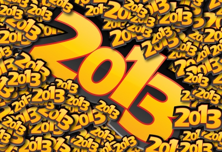 Vector Happy New Year design with 2013 text. Stock Vector - 16240254