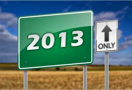 2013 Year on the Road Sign Stock Vector - 16240257