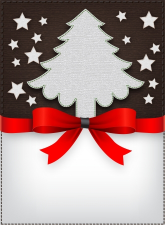 Christmas Restaurant Menu Cover Tree Illustration