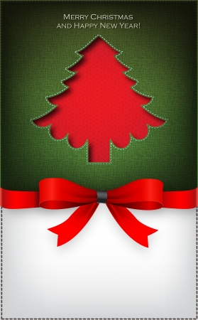 Christmas tree  cut the textile Stock Vector - 16331351