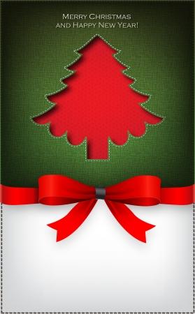 Christmas tree  cut the textile Stock Vector - 16331351