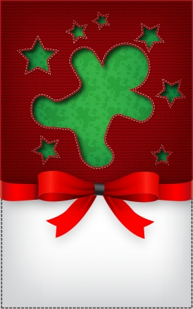 Christmas cookie  cut the textile   Vector