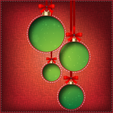 Christmas Balls  cut the textile Stock Vector - 16331354