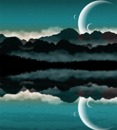 Science Fiction landscape Vector
