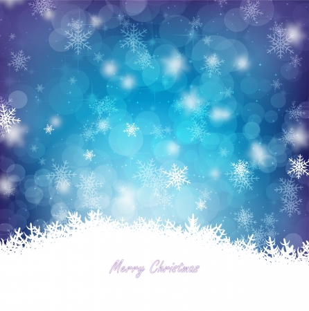 Magical Blue Christmas card  Vector