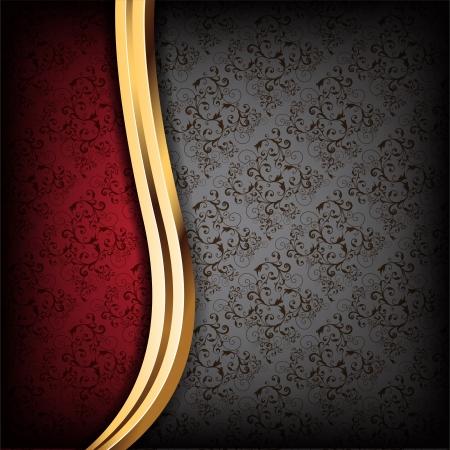 black silk: Black and Red Luxury Background