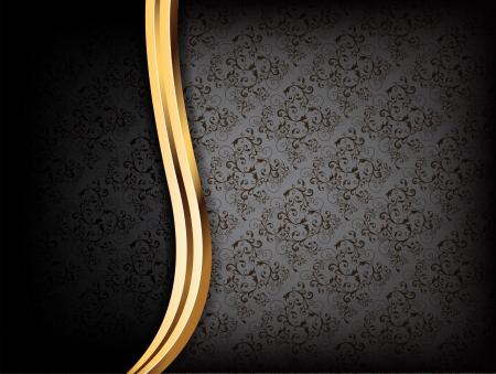 gold swirls: Black Luxury Background