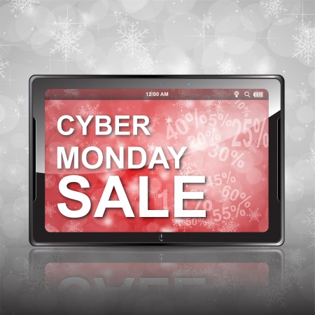 kerst markt: Cyber Monday Shopping