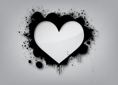 Gesprüht Herzen - Vector illustration einer gespritzten Herzform