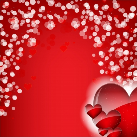 love wallpaper: Abstract Background with red hearts Illustration